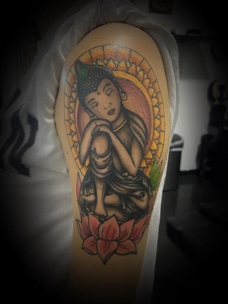 tattoos/ - Buddha lotus color mash  - 141992
