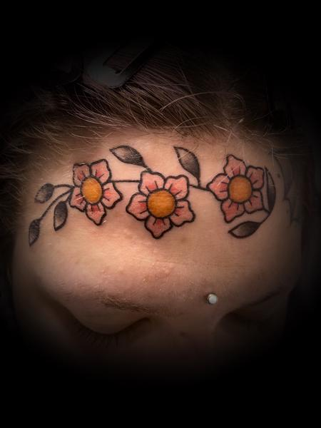 tattoos/ - Face flowers  - 142148