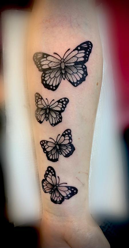 Butterflies dotwork