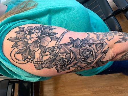 tattoos/ - Anchor and peony's - 142092