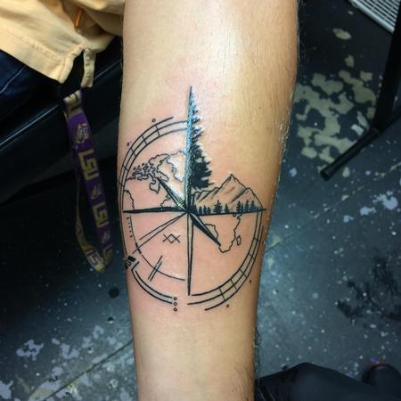 tattoos/ - Black work custom compass - 140139