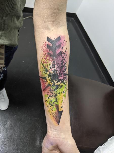 Watercolor arrow