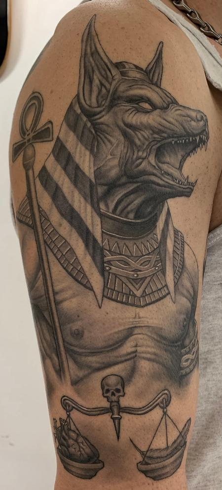 Anubis Tattoo Healed By Bob Tyrrell Tattoonow