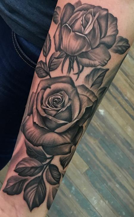 tattoos/ - Black & Grey Roses  - 127248