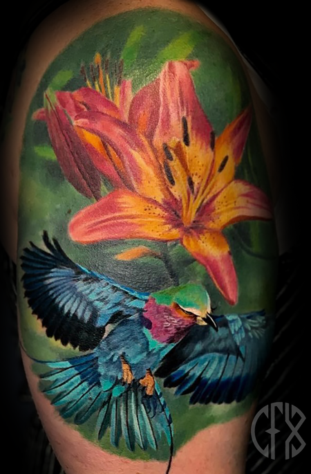 tattoos/ - Flower/Bird - 139426