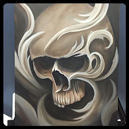 Art Galleries - Filigree Skull Painting - 122449