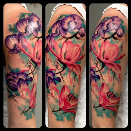tattoos/ - Watercolor Flowers - 122396