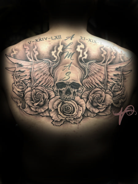 tattoos/ - Skull Roses and Wings - 137890