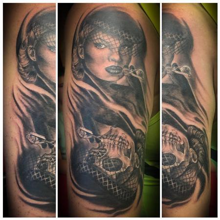 tattoos/ - Skull/Pin up morph - 140277