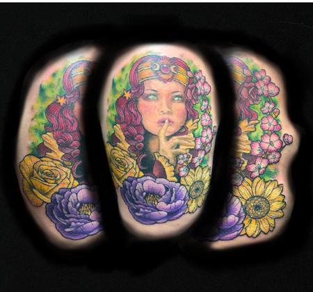 tattoos/ - Lady Amongst Flowers - 140280