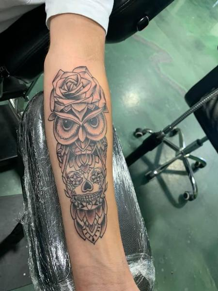 tattoos/ - Owl and Skull - 139186