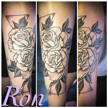 tattoos/ - Black and Grey Floral - 139190