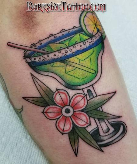 tattoos/ - Color Martini Glass Tattoo - 133953