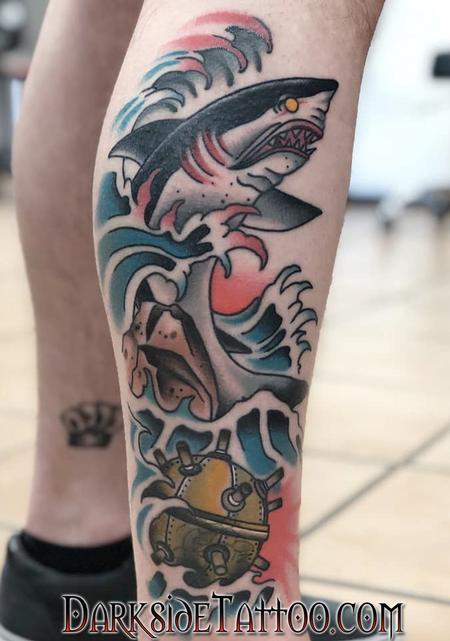 tattoos/ - Traditional Shark - 140636