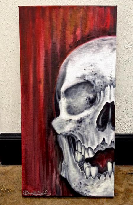 Art Galleries - Skull Oil Painting - 80629