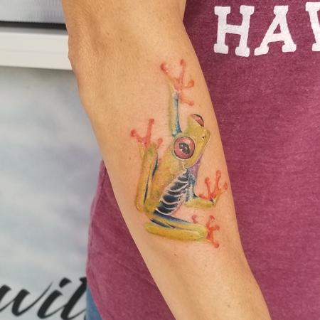 tattoos/ - red eyed tree frog - 140066