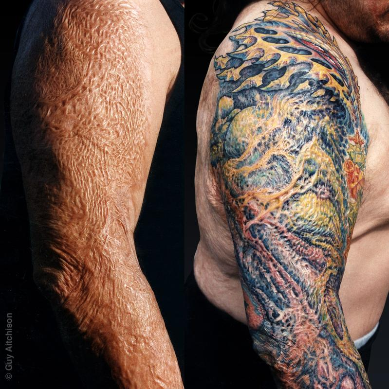 0d1010925 Hyperspace Studios : Tattoos : Coverup : Anthony, third degree burn ...