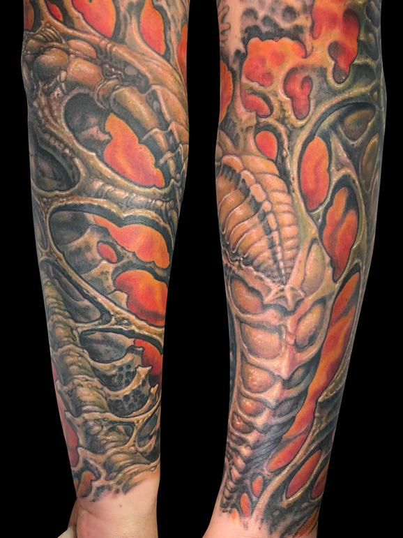 tattoos/ - Forearm Bio Organic Tattoo - 140592