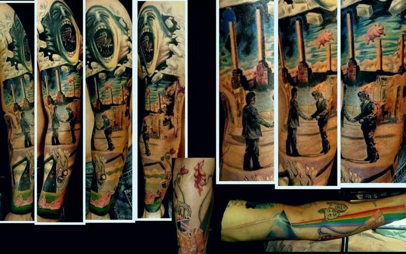 Haley Adams Tattoo Tattoos Cartoon Pink Floyd Sleeve