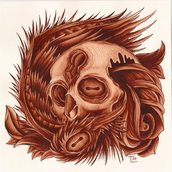 Art Galleries - Skull Rose and Wing - 39761