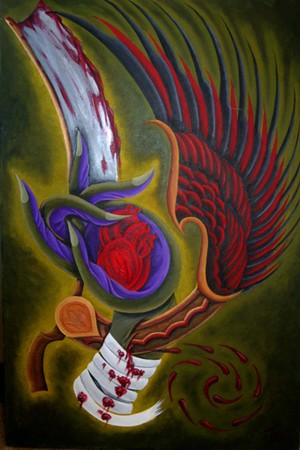 Art Galleries - Straight Razor Acrylic Painting - 39762