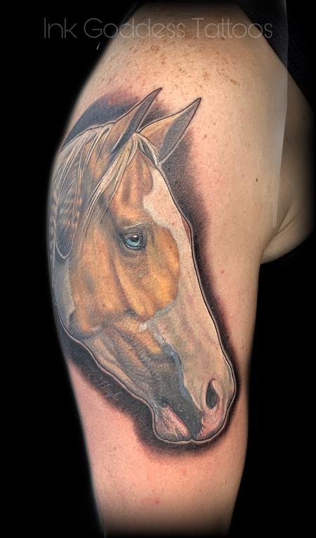 tattoos/ - Palomino paint horse portrait  - 139968
