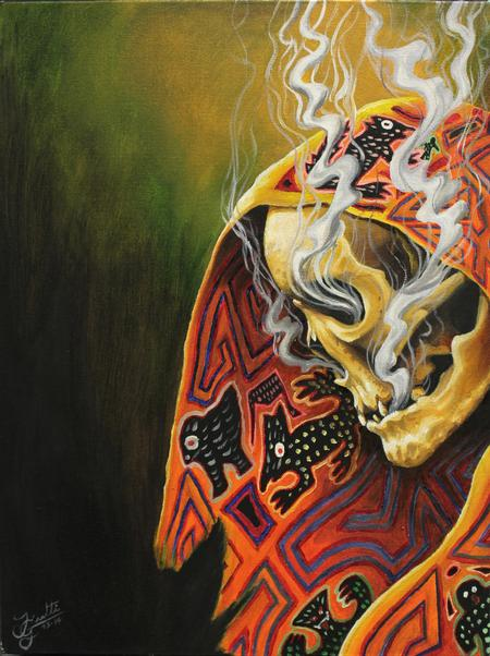 Art Galleries - Smoking Skeleton - 100343