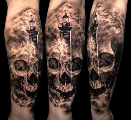 tattoos/ - Skull/Lighthouse  - 134755