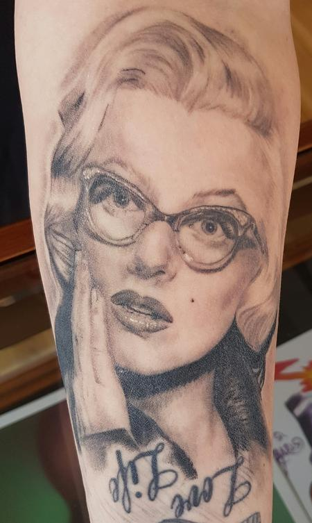 tattoos/ - Marilyn Monroe Portrait Tattoo - 123478