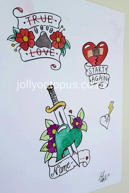 Art Galleries - Original Art Tattoo Flash Designs - 125828