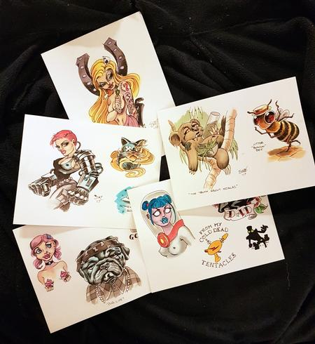 Art Galleries - Original Art Tattoo Flash Designs - 126395