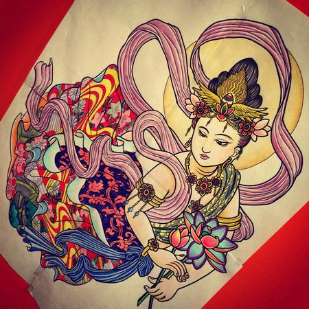 Art Galleries - Japanese Goddess Tattoo Design - 128600