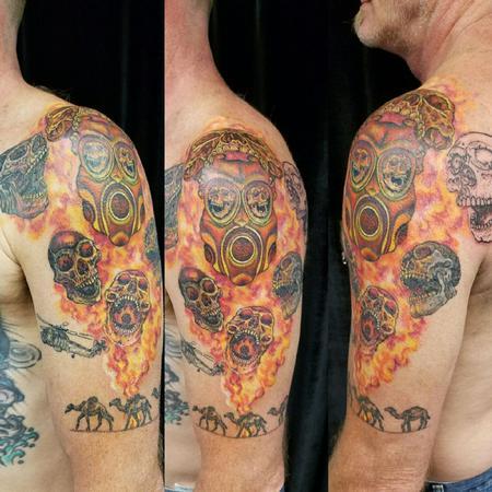 tattoos/ - Flaming Skulls - 126177