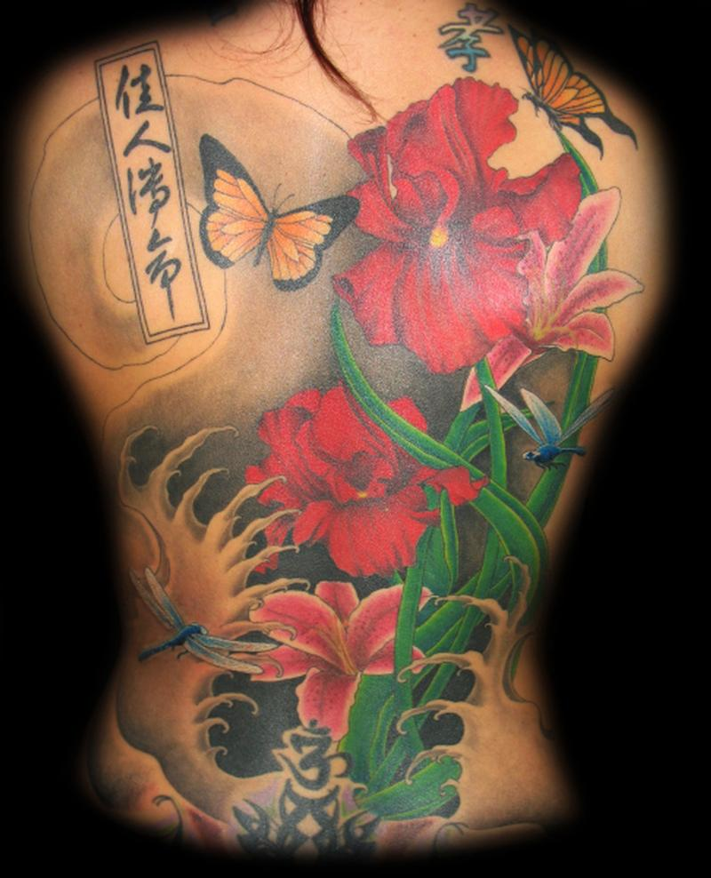 Photo Realistic Flower Tattoos Google Search: Floral Back Piece By Jared Preslar : Tattoos