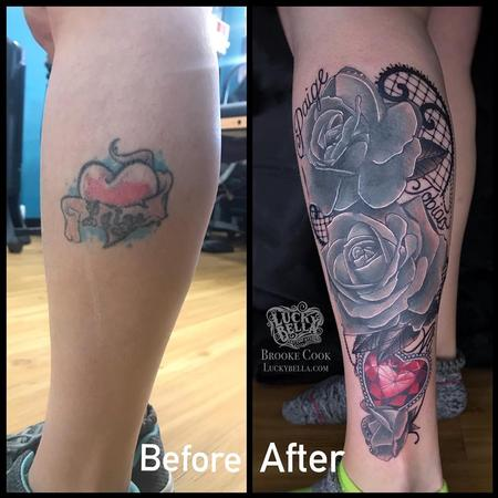 tattoos/ - Family Tattoo Coverup by Brooke Cook at Lucky Bella Tattoos in North Little Rock Arkansas - 140421