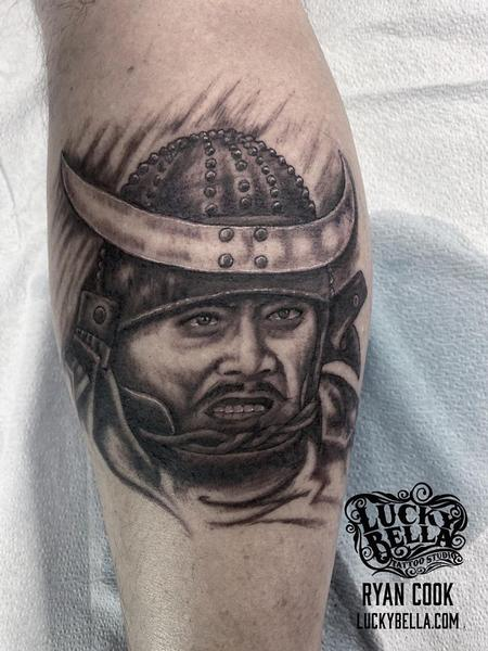 tattoos/ - Throne of Blood Portrait by Ryan Cook at Lucky Bella Tattoos  - 140558