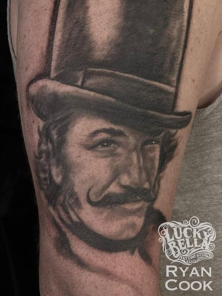 tattoos/ - Bill the Butcher Portrait Tattoo by Ryan Cook at Lucky Bella Tattoos in North Little Rock  - 141316