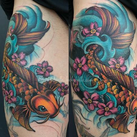tattoos/ - Koi Fish Rework by Shari Qualls at Lucky Bella in North Little Rock  - 141666