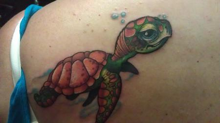 tattoos/ - a colorful little turtle tattoo - 66031