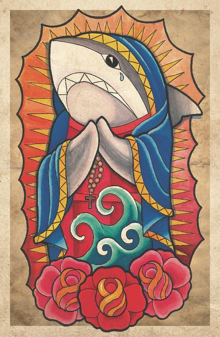 Art Galleries - virgin mary shark  - 79909