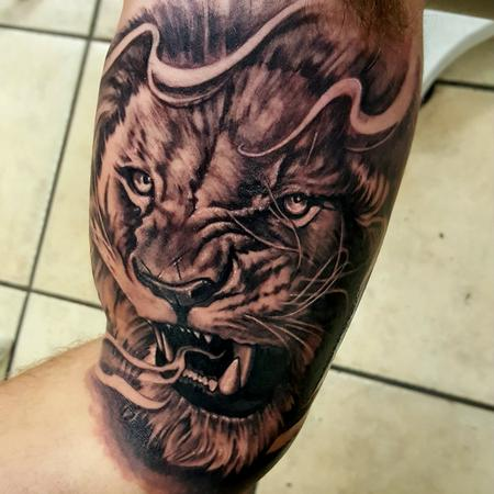 tattoos/ - Lion tattoo portrait - 128188