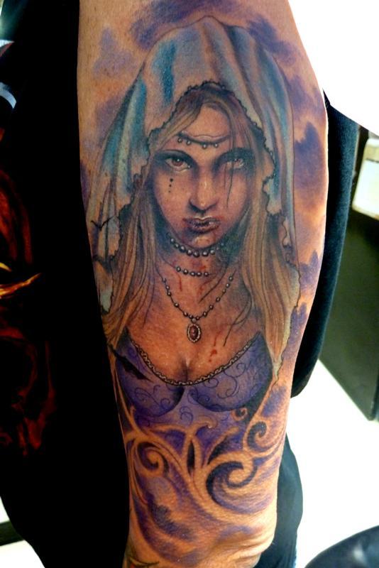 ea403f9b7 Mully Tattoo : Tattoos : Color : Vampire girl