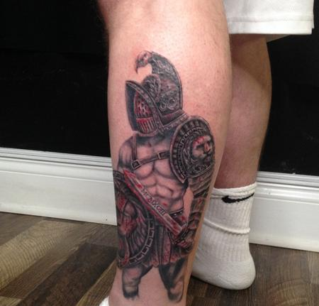 tattoos/ - Warrior Leg Piece - 141407