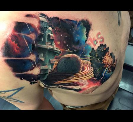 tattoos/ - Sci-Fi outer space cover up - 101624