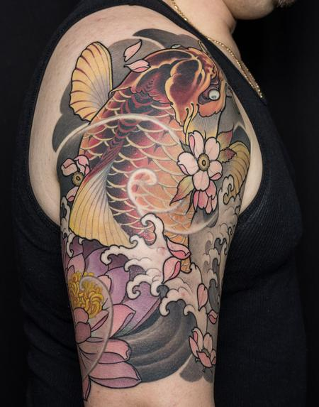 tattoos/ - Japanese Koi Half Sleeve - 126198