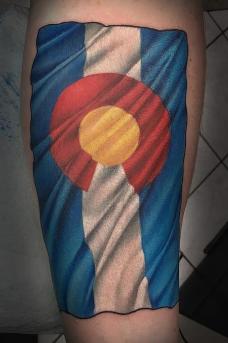 tattoos/ - Colorado Flag - 128557