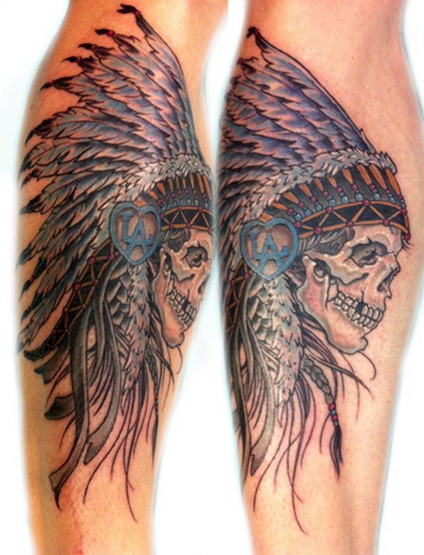 Stay True Tattoo Tattoos Body Part Leg Indian Skull