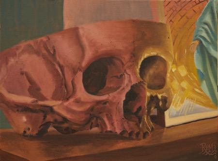Art Galleries - Skull and Saint midnight oil study 4/2020  - 141628