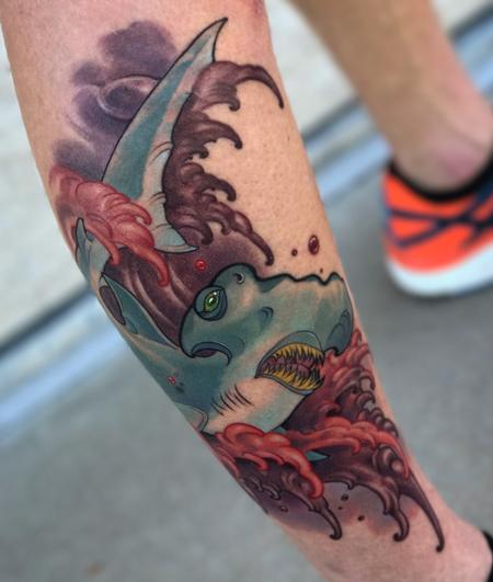 tattoos/ - Red Waves  - 129712