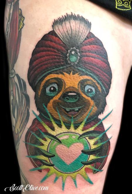 tattoos/ - Fortune Teller Sloth - 138402